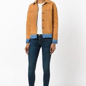 Rag & Bone Dark Blue Mid Rise Skinny Jeans